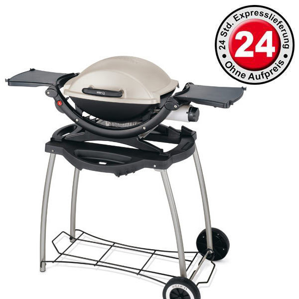 weber q 120 als gasgrill mit rollwagen 20028 grillarena. Black Bedroom Furniture Sets. Home Design Ideas
