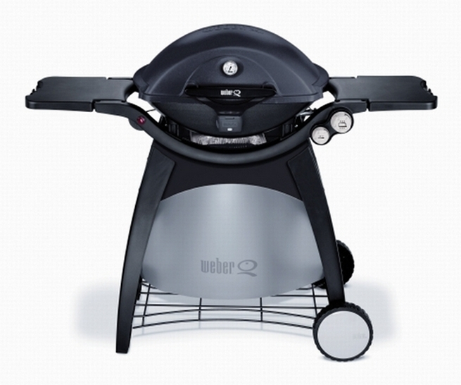 gasgrill weber q 320 black line mit grillwagen. Black Bedroom Furniture Sets. Home Design Ideas