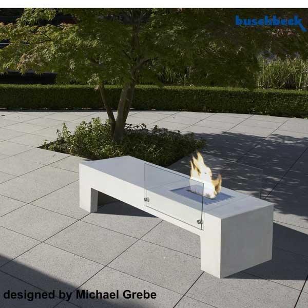 beton sitzbank und feuerstelle von buschbeck grillarena. Black Bedroom Furniture Sets. Home Design Ideas