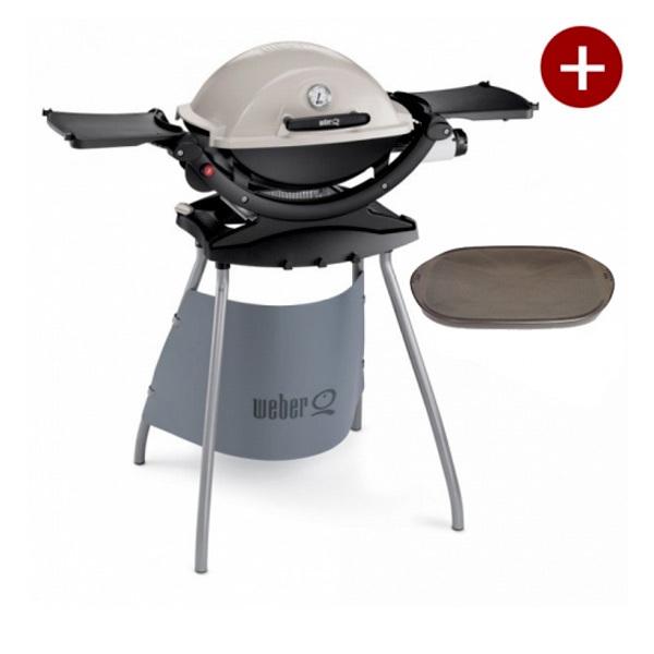 aktion weber q 120 stand gasgrill inkl grillplatte 20050 grillarena. Black Bedroom Furniture Sets. Home Design Ideas