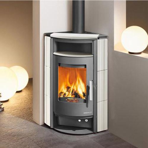 haas sohn premium kaminofen breisgau wei anthrazit inkl kaminbesteck grillarena. Black Bedroom Furniture Sets. Home Design Ideas