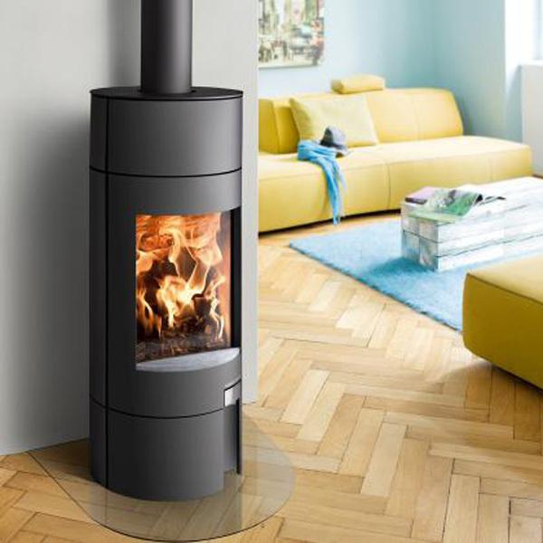 kaminofen ficus piccolo schwarz haas sohn. Black Bedroom Furniture Sets. Home Design Ideas