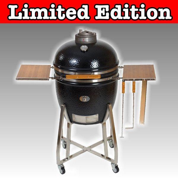 advent 11 monolith keramik grill schwarz premium edition grillarena. Black Bedroom Furniture Sets. Home Design Ideas