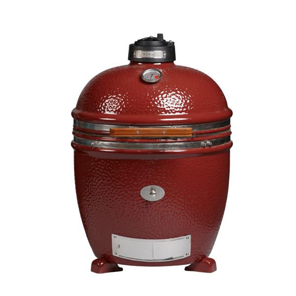 monolith keramik grill lechef 2015 rot mit gestell und seitentischen grillarena. Black Bedroom Furniture Sets. Home Design Ideas