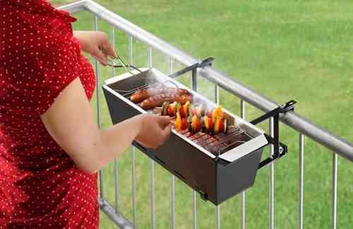 Guter Elektrogrill Für Balkon : Balkongeländer grill bruce der blumenkasten zum grillen