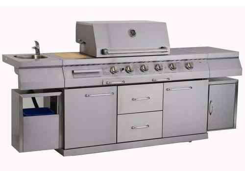 Outdoor Küche Mit Spüle : Outdoorküche zurich zk von swiss grill grillarena