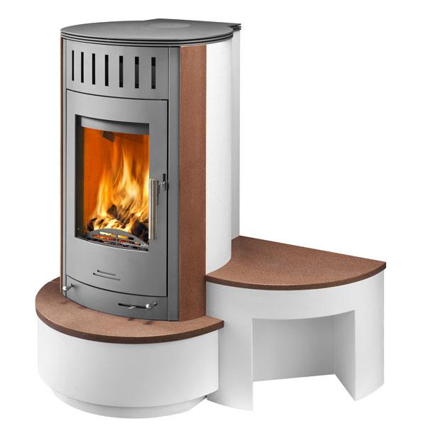 kaminofen askja gussgrau cotto inkl kaminbesteck. Black Bedroom Furniture Sets. Home Design Ideas