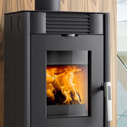 kaminofen andro schwarz von haas sohn grillarena. Black Bedroom Furniture Sets. Home Design Ideas