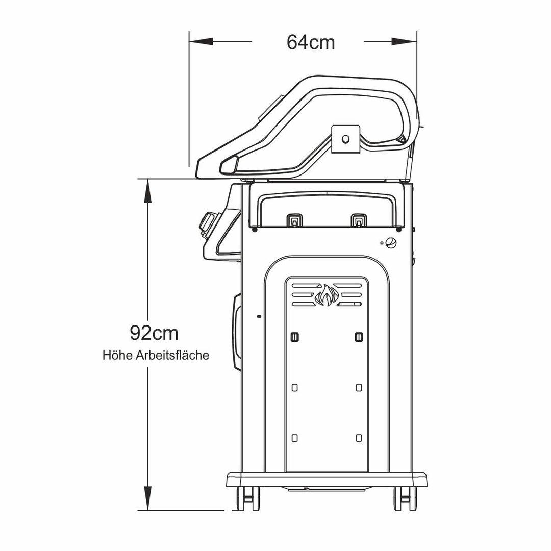 napoleon gasgrill rogue r425 in schwarz mit seitenbrenner. Black Bedroom Furniture Sets. Home Design Ideas