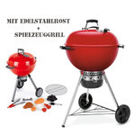 Master-Touch® GBS Limited Edition Holzkohlegrill WEBER® 57cm ROT mit Spielzeuggrill  (17714)