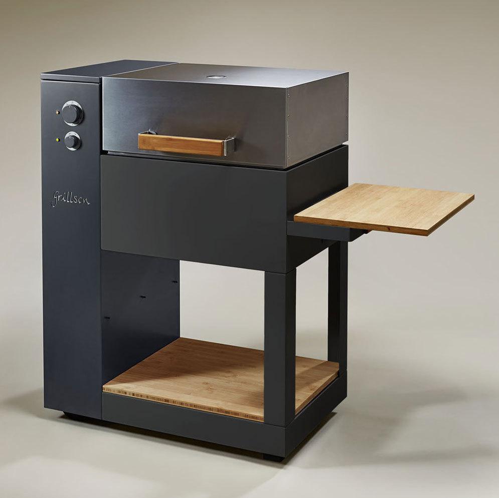 ausstellungsst ck grillson leif pelletgrill tiefschwarz anthrazit grillarena. Black Bedroom Furniture Sets. Home Design Ideas