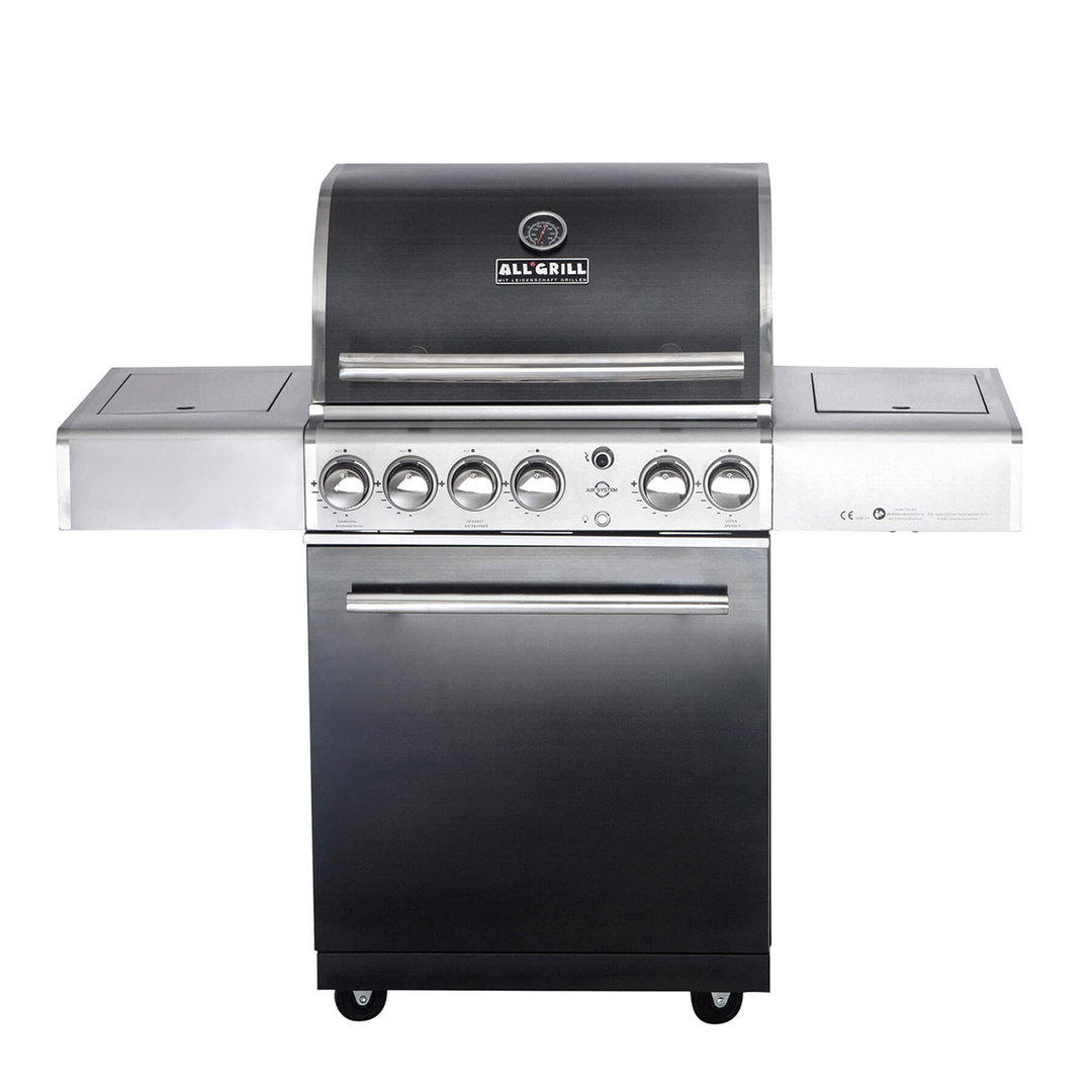 All'Grill® Gasgrill Chef M Top-Line Volledelstahl Black Edition (100703)