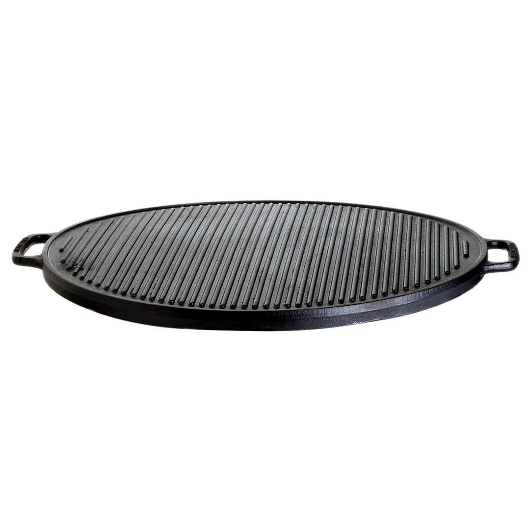 Gusseisenkuss® Zweiseitige Grillplatte aus Gusseisen Ø 30cm (5500)